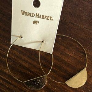 World Market gold hoops
